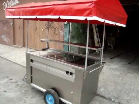 Carrito para hot dogs y hamburguesas de acero inoxidable for Carritos y camareras de cocina
