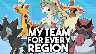 My Pokemon Team For Every Region