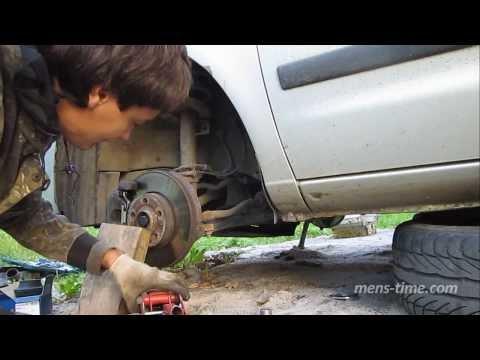 04 Замена опорного подшипника и опоры стойки VW Sharan левая стойка, установка