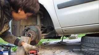 04 Замена опорного подшипника и опоры стойки VW Sharan левая стойка, установка)
