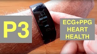 P3 ECG+PPG Blood Pressure tracking Sports Smart Wristband: Unboxing & Review