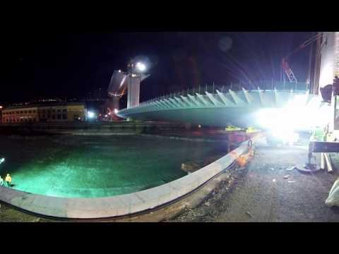 Il ponte #Pergenova: La ricostruzione a 360° - Il varo del grande impalcato