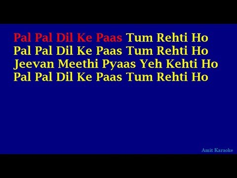 Pal Pal Dil Ke Paas - Kishore Kumar Hindi Full Karaoke With Lyrics