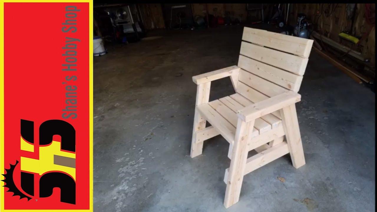 2x4 Chair - YouTube
