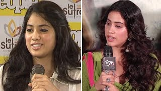 Jhanvi Kapoor STRUGGLED To Speak Hindi Earlier, IMPROVISES It For Dhadak