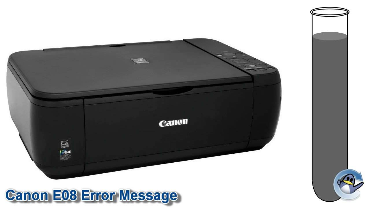 What Is The Canon E08 Error Message Youtube