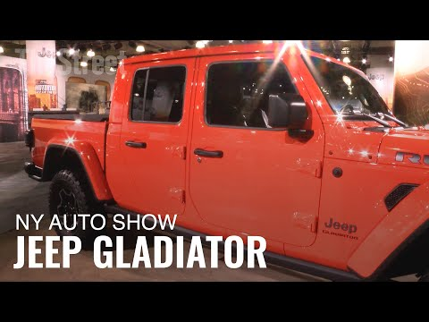 Jeep Unveils Gladiator Pickup Truck at New York Auto Show
