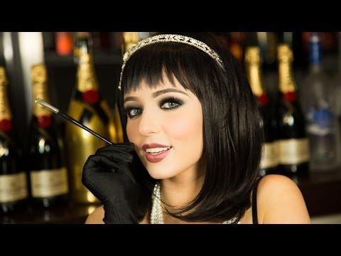 Flapper Girl Great Gatsby 20's Makeup tutorial HALLOWEEN thumbnail
