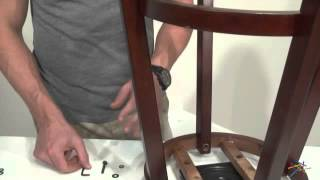 Assembly Video -  Hillsdale 29-in. Cordell Swivel Barstool - Brown Cherry