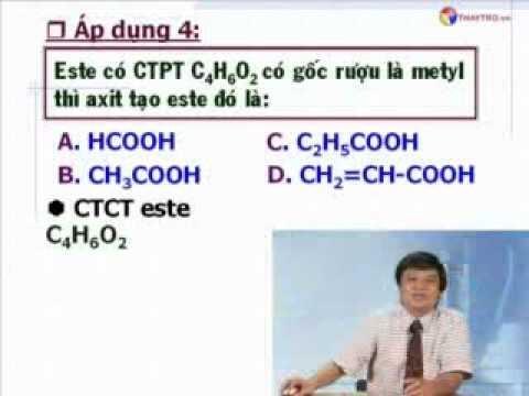 Phương pháp giải các bài toán Este hóa