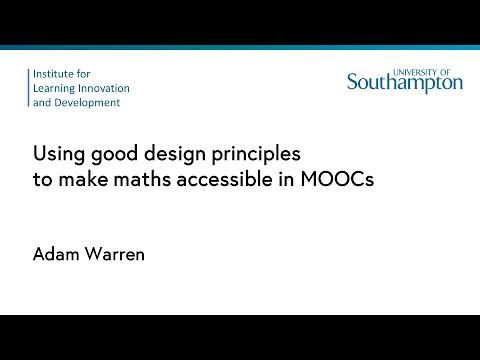 Using good design principles to make maths accessible in MOOCs