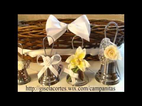 Campanitas de recuerdo para boda youtube - Recuerdos de bodas para invitados ...