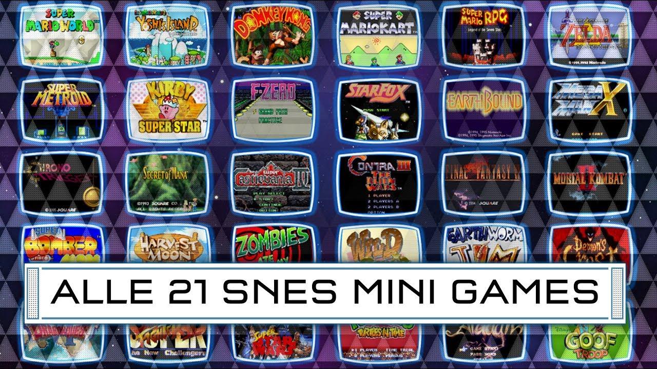 super nintendo mini spel