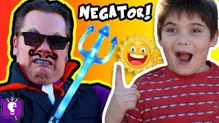 Cranky NEGATOR Ruins Our Day! Comedy Sketch HobbyKidsTV thumbnail