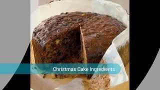 Christmas Fruit Cake Ingredients
