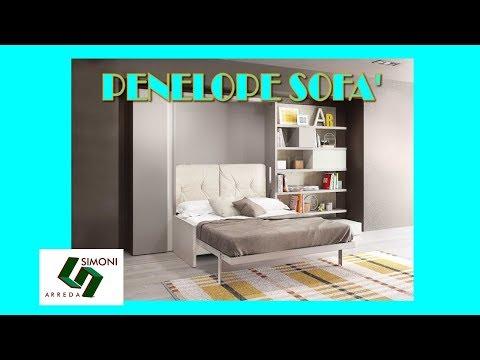 Mobile letto con divano incorporato penelope sofa 39 youtube - Mobili a scomparsa per monolocali ...