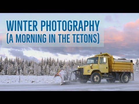 Winter Light - A Morning Drive In The Tetons