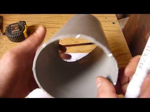 Как подогнать врезку труб разного диаметра под 45 градусов