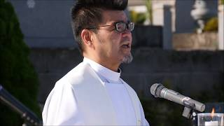 【カトリック唐湊墓地】死者のためミサでの泉浩二神父の説教
