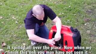 Black and Decker 2000w Silent Inverter Generator INITIAL SETUP