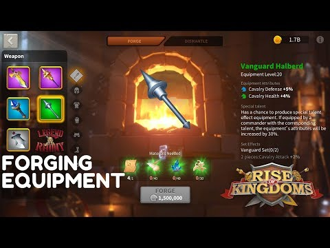 FORGING EQUIPMENT - More In Depth About Blacksmith/forge - Rise Of Kindoms