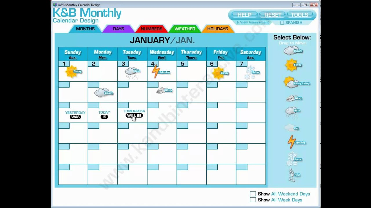 Calendar Design Software : Monthly calendar design interactive software youtube