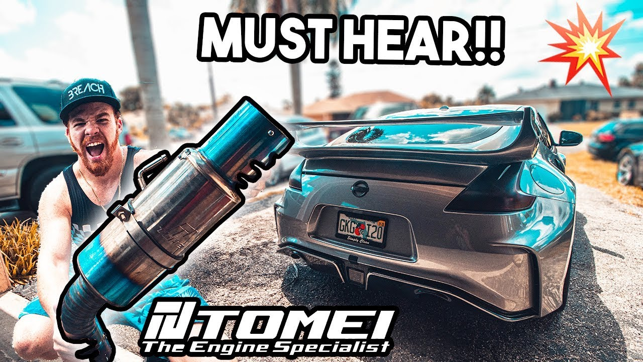 the greatest exhaust tomei ti 370z install