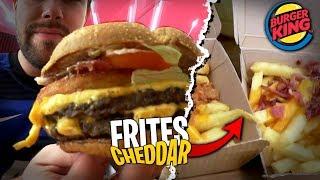 Je test les Frites Cheddar du Burger King + Burger Extra Patato Heritage ! Popopooooo