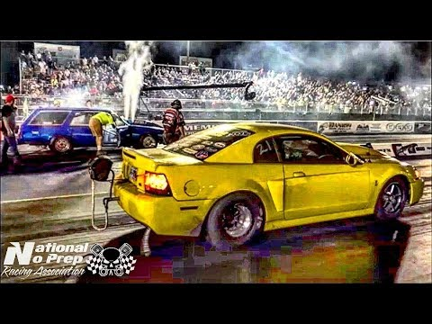 BoostedGT vs Nitrous Mustang Wagon at the Memphis Street Outlaws No Prep