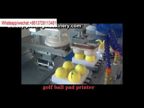 Single color automatic tampo printer with conveyor belt for golf ball