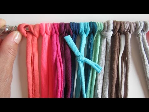How To Upcycle Your Yarn Remains Into A Colorful Curtain - DIY Home Tutorial - Guidecentral