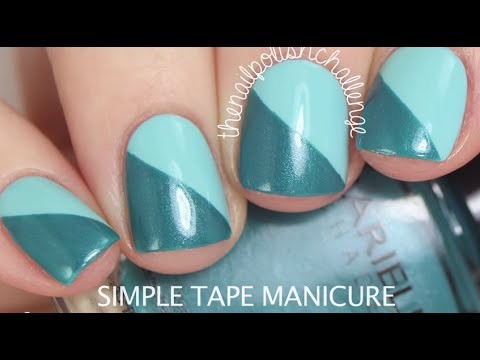 Diy Nail Art Cute Nail Art Design Using Scotch Tape Youtube