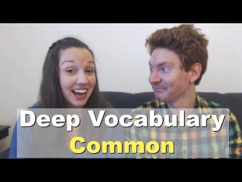 Learn Vocabulary Through Conversation: COMMON [Advanced English Lesson]