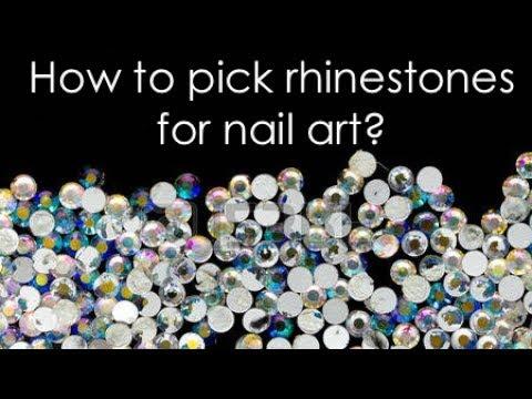 How To Pick Good Rhinestones For Nail Design Swarovski Glass Or