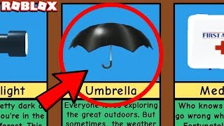 *WHAT HAPPENS WHEN* YOU USE THE UMBRELLA in ROBLOX CAMPING