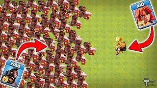 Max Valkyrie vs Max Hog Rider 🔥🔥 Clash of Clans Ultimate Battle | Max Hog Rider vs Max Valkyrie
