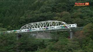 E257系特急あずさ3号回送 第一姫川橋梁を行く