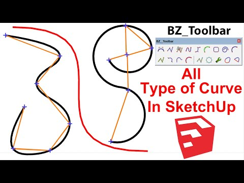 How to use Bezier Spline in SketchUp | Curve Tool