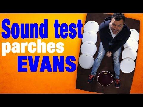 Sound test comparativo de parches EVANS