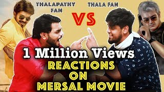 thala ajith fans reaction on mersal movie thala fans vs thalapathy fans funny fight part 8