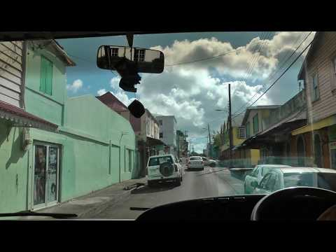 driver view Viking narrated bus ride on Antigua from St. John's to the Blockhouse (1 of 2)