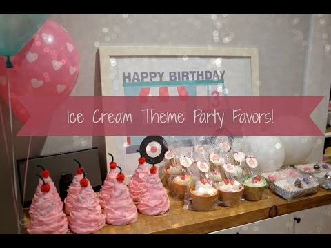 Ice Cream Theme Party Favors Ideas Tutorial