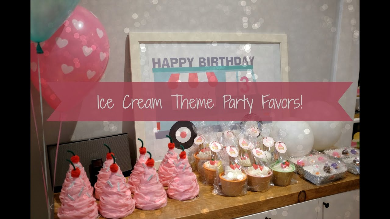 Ice Cream Theme Birthday Party Ideas Photo 3 Of 14 Catch My Party
