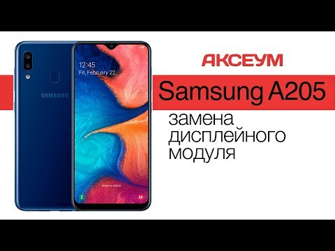 Замена экрана на 📱 Samsung Galaxy A20 2019 (A205) - пошаговый разбор \ Replacement LCD Screen