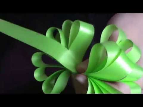 Como hacer lazos con cinta de agua youtube - Lazos con cintas ...