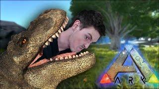 DINOSAUR ATTACKS AUSTRALIAN MAN! - Ark Survival Evolved #1
