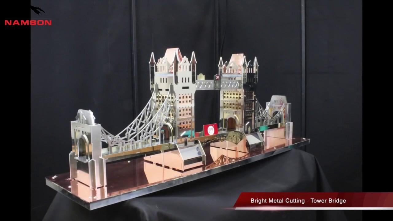 Máy Cắt Laser Fiber Cắt Kim Loại Sáng Màu – Tháp Bridge