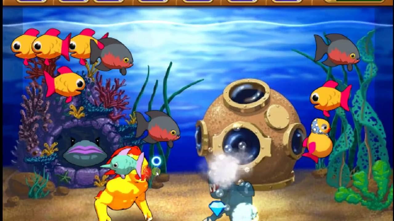 Insaniquarium deluxe tank 1 popcap games youtube for Fish evolution game