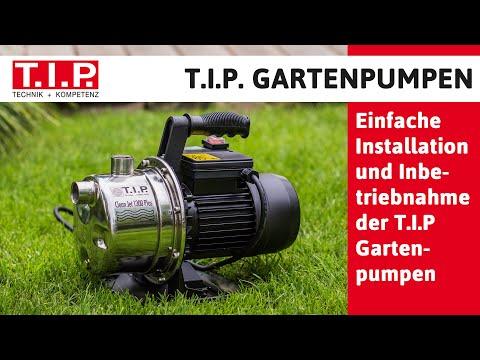 Installation Und Inbetriebnahme Der T I P Gartenpumpen Youtube