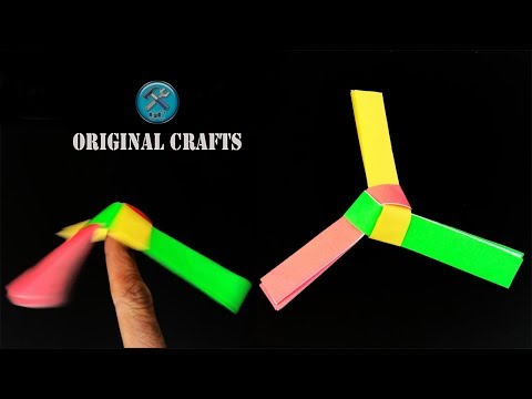 How to make a easy Rotating Paper Fan Spinner  - FNL Origami Tutorial